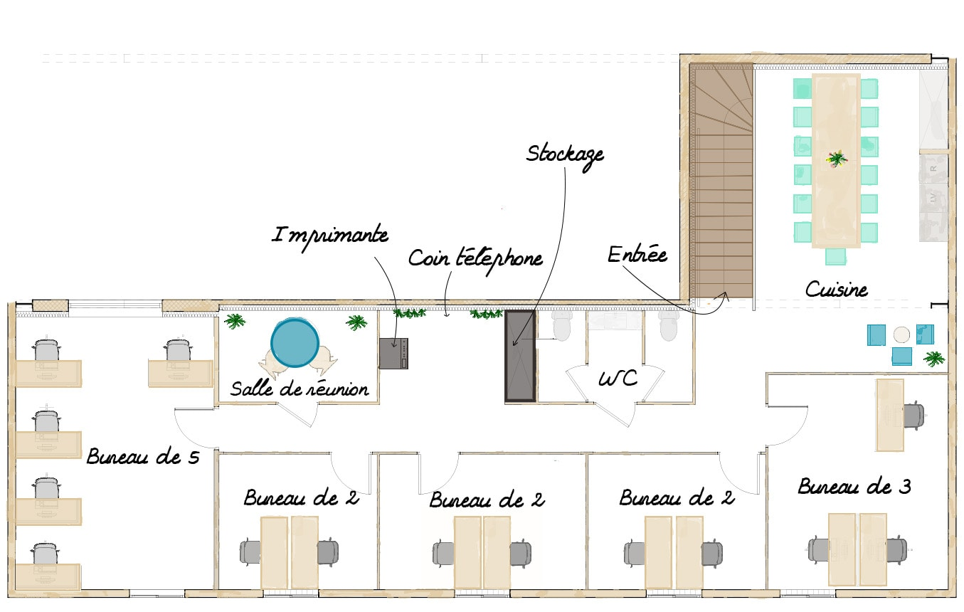 Plan du MIX Coworking Ecully