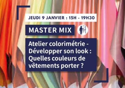 MASTER MIX : Atelier Colorimétrie – développer son look : quelles couleurs de vêtements porter ?