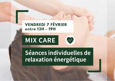MIX CARE : Séances individuelles de relaxation énergétique