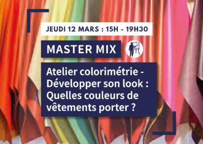 MASTER MIX : Atelier colorimétrie – Développer son look : Quelles couleurs de vêtement porter ?