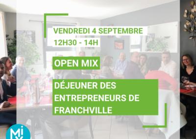 OPEN MIX : Déjeuner des entrepreneurs de Francheville