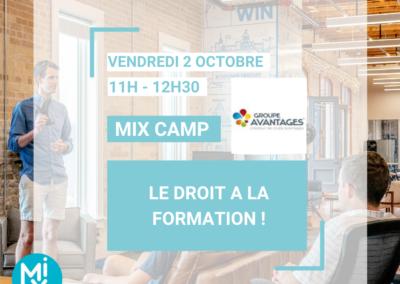 MIX CAMP : Droit à la formation