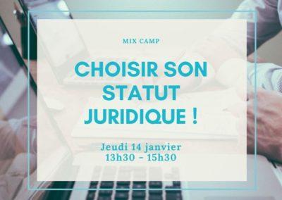 MIX Camp : Quel statut juridique choisir ?