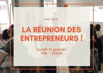 Réunion mensuelle des entrepreneurs