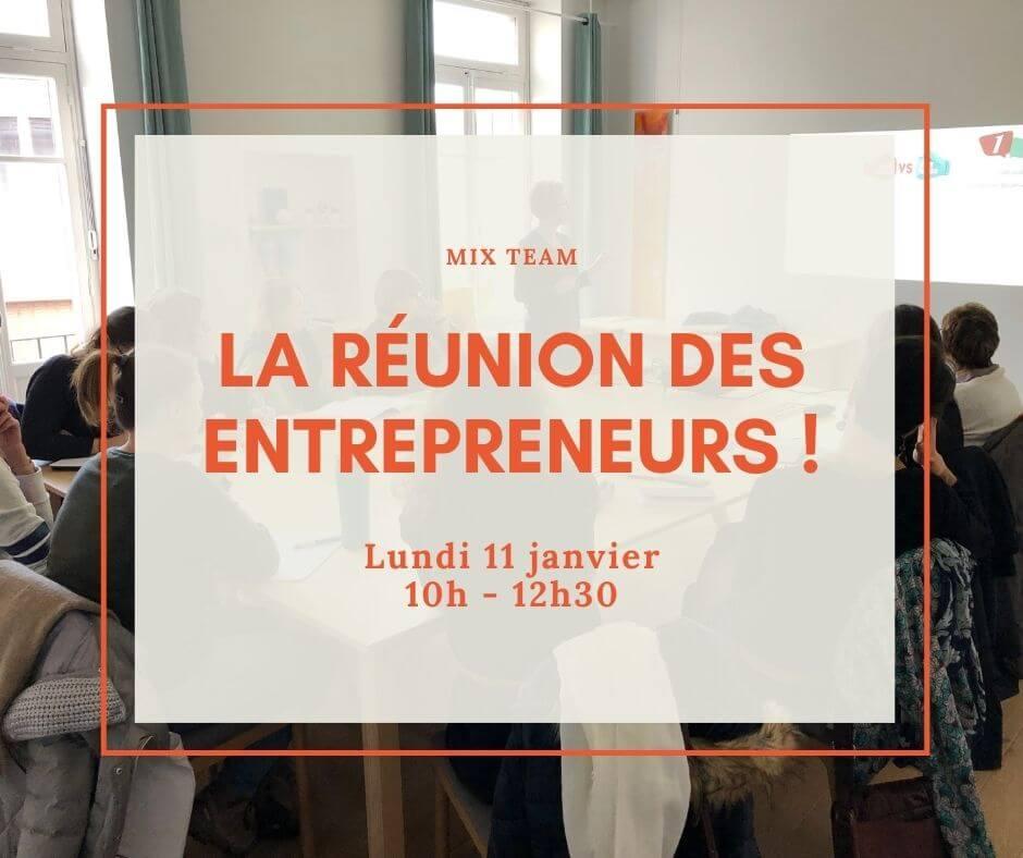 réunion mensuelle d'un groupe d'entrepreneurs