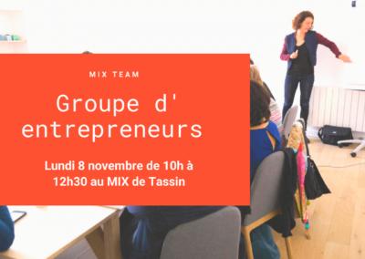 Réunion mensuelle d'entrepreneurs